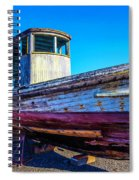 Worn Weathered Boat Spiral Notebook