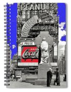 Wrapped  Fr. Duffy Statue Times Square New York Peter Sekaer Photo 1937 Color Added 2014 Spiral Notebook
