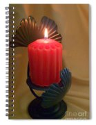 Wrapped In A Golden Glow Spiral Notebook