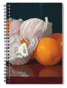Wrapped Oranges On A Tabletop Spiral Notebook