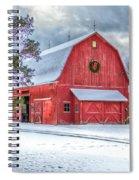 Wreath On A Barn Spiral Notebook