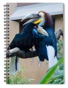 Wreathed Hornbills Spiral Notebook