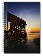Wreck Of The Peter Iredale-b Spiral Notebook