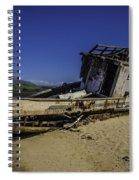Wrecked On A Sand Bar Spiral Notebook