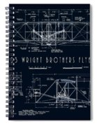 Wright Bros Flyer Aeroplane Blueprint  1903 Spiral Notebook