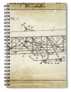 Wright Brothers Flying Machine Patent 1903 Spiral Notebook
