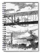 Wright Brothers Plane Spiral Notebook
