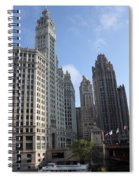 Wrigley And Tribune Tower Spiral Notebook