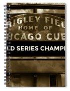 Wrigley Field Sign - Vintage Spiral Notebook