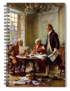 Writing The Declaration Of Independence Spiral Notebook