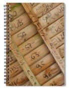 Writings On Wood Spiral Notebook