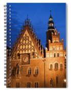Wroclaw Old Town Hall At Night Spiral Notebook