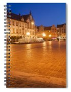 Wroclaw Old Town Market Square At Night Spiral Notebook