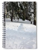 Wrong Way Snowman Spiral Notebook