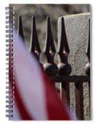 Wrought Iron And American Flag Spiral Notebook