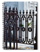 Wrought Iron Cemetery Fence Spiral Notebook