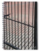 Wrought-iron Gate And Shadows Spiral Notebook