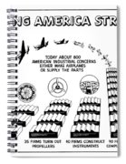 Ww2 Airplane Supply Cartoon  Spiral Notebook