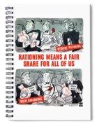 Ww2 Rationing Cartoon Spiral Notebook