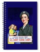 Ww2 Us Cadet Nurse Corps Spiral Notebook