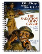 Wwi Poster Spiral Notebook