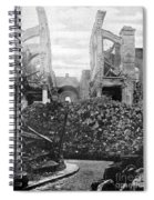 Wwi, Ruins Of Arras Cathedral Spiral Notebook