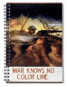 Wwii: Color Line Poster Spiral Notebook