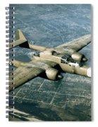 Wwii, Northrop P-61 Black Widow, 1940s Spiral Notebook