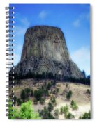 Wyoming Devils Tower With 8 Climbers August 7th 12 36pm 2016 With Inserts Spiral Notebook