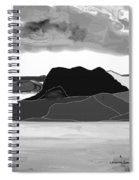 Wyoming Landscape 3 - B-w Spiral Notebook