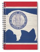 Wyoming Rustic Flag On Wood Spiral Notebook