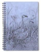 Wyoming Sandhill Cranes Spiral Notebook