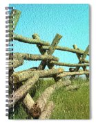 Wyoming Snow Fence Spiral Notebook