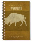 Wyoming State Facts Minimalist Movie Poster Art Spiral Notebook