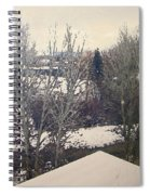 Wyoming Winter Window Reflections Spiral Notebook