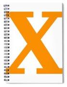 X In Tangerine Typewriter Style Spiral Notebook
