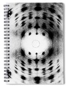 X-ray Diffraction Image Of Dna Spiral Notebook