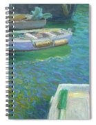 Xabia Harbour With Fishing Boats Spiral Notebook