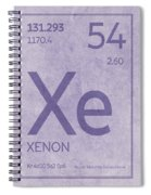 Xenon Xe Element Symbol Periodic Table Series 054 Spiral Notebook