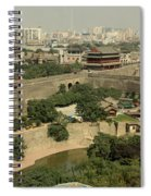 Xi'an City Wall With Skyline Spiral Notebook