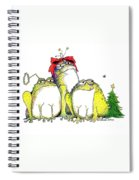 Xmas Bows Spiral Notebook