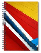 Xochimilco Boat Abstract 1 Spiral Notebook