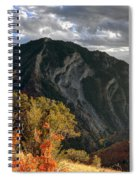 Y Mountain Above Provo Utah At Sunset Spiral Notebook