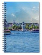 Yacht And Beach Club Walt Disney World Spiral Notebook