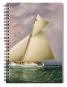 Yacht Race In New York Harbor Spiral Notebook