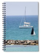 yacht sailing in the Mediterranean sea Spiral Notebook