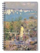 Yachts In Gloucester Harbor Spiral Notebook