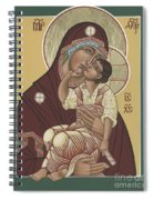 Yakhrom Icon Of The Mother Of God 258 Spiral Notebook