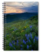 Yakima River Canyon Sunset Spiral Notebook