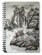 Yangze River With Water Fall Spiral Notebook